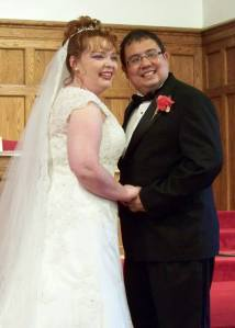 Nancy (Taylor) Swe and her new husband Selwyn Swe.