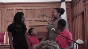 "The Alberty family sings ""How Great is Our God"" on Nov. 10, 2013."