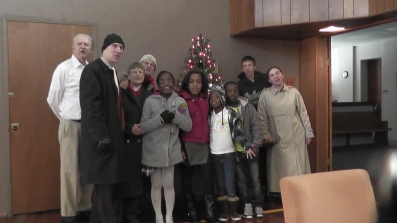 WGBC Carolers braved the snow and ice to share some Christmas joy on Dec. 15.