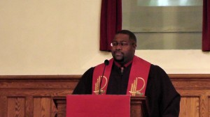 """Rev. Jermine Alberty shares the Pentecost  message """"We are Called to All People."""""""