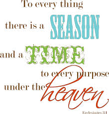 Season for everything