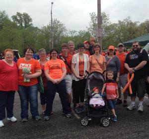 WGBC members participate in Walk MS: St. Louis 2015 on April 19, in Forest Park.