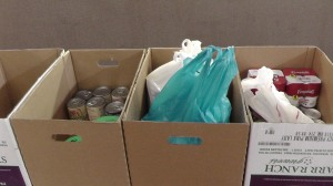 WGBC responded to a request for canned soup with these gifts.
