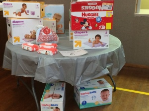 In April, the WGBC collected  diapers for the St. Louis Diaper Bank.
